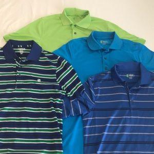 4 Izod Performance Golf Shirts Men's Small